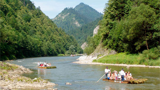 Sluice Down of DUNAJEC River