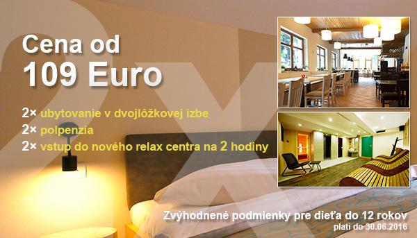 cena ubytovania od 109 euro